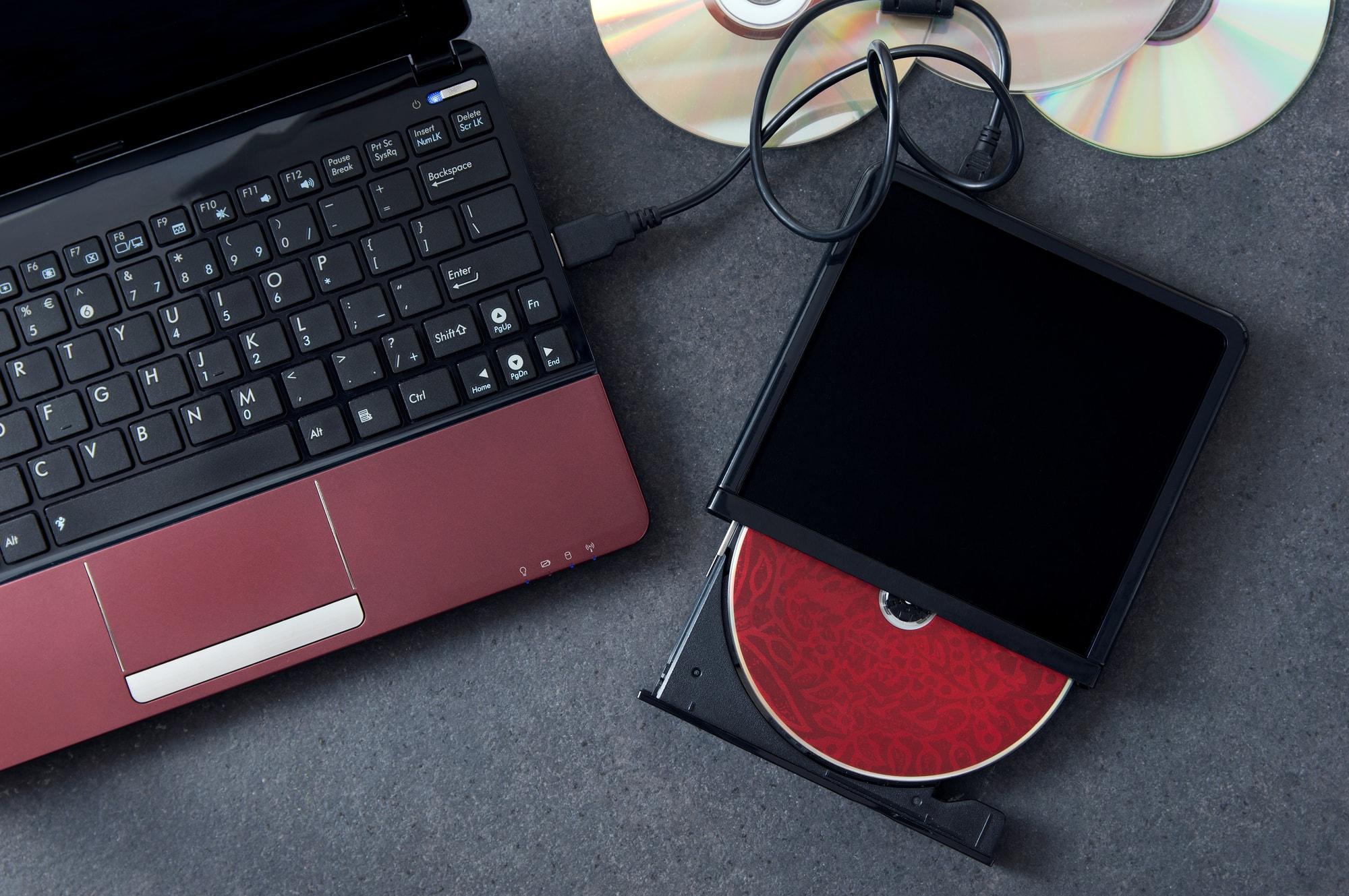 パソコンのDVDドライブ